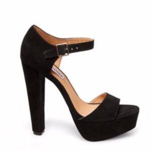 Steve Madden black suede platform sandals